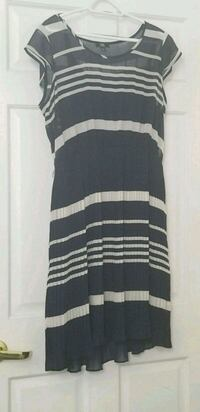 Authentic Jacob Navy Blue and White Striped Dress Toronto, M5R