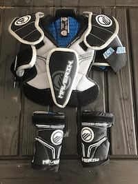 Youth lacrosse shoulder pads w/elbow pads