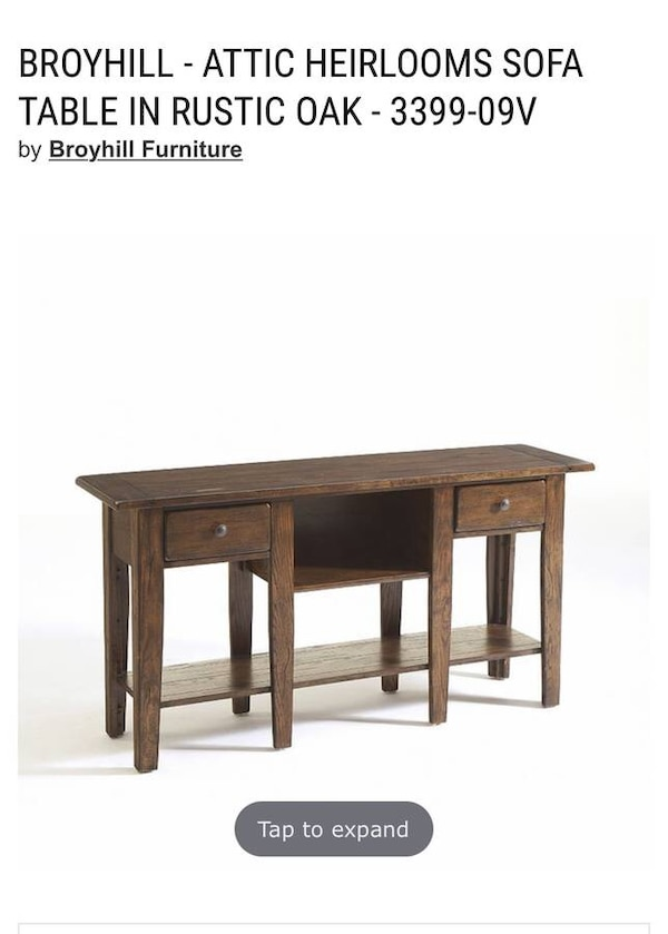 Used Accent Table Sofa Broyhill