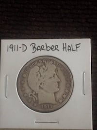 1911-D barber half coin Beverly