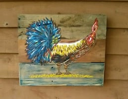 """""""Rooster"""" Handmade & Painted...."""