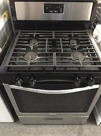 Whirlpool stainless steel gas stove with warranty  42 km