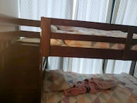 brown wooden bed frame with white mattress Vaughan, L4K 0G3