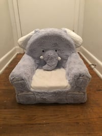 Kids stuffed elephant chair