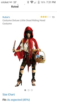 Little dead riding hood costume Raytown, 64133