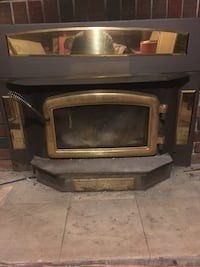 black and brown electric fireplace Toronto, M9N