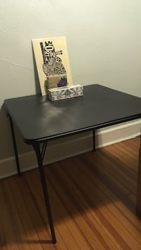 Black Foldable Table $10 each (2 total). Must pick up. Albany, 12210