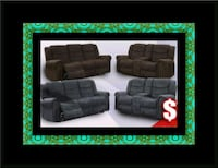 Grey or chocolate recliner set 68 km