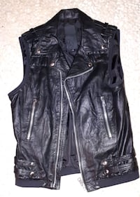 Leather Vest - Size medium