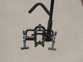 Bicycle carrier rack for trucks .