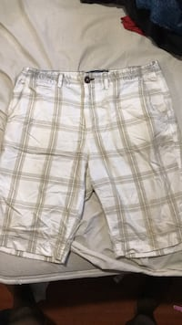 Men's white plaid shorts Ajax, L1Z 1Z1