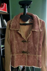 Jacket front is Swede leather Alexandria, 22304