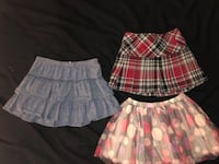 Girl's white and pink plaid skirt