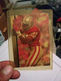 Action Packed Jerry Rice NFL trading card Modesto, 95357