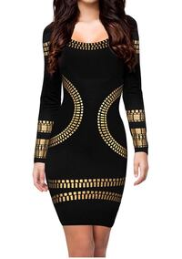 black and brown long-sleeved dress New York, 10031
