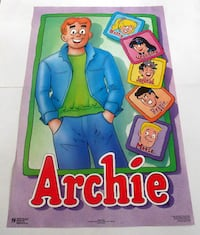 ARCHIE, BETTY, VERONICA, JUGHEAD, REGGIE AND MOOSE POSTER FROM 1989 VINTAGE! Toronto