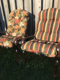 Four patio chairs and double sided cushions Kitchener, N2E 3T8