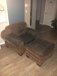 Brown suede couch & sofa chair with ottoman Grimsby, L3M 5P6