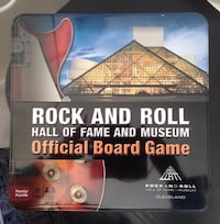 Rock and roll hall of fame and museum official board game box.