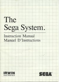 The Sega (Master) System Instruction Manual - Manual Only Original Sega Master System Manual by Irwin lectronics In good condition  (ref # bx apps1/eb) Newmarket