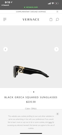 Versace Men's Shades Washington, 20019