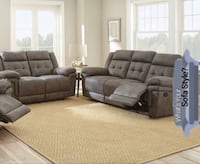 Gray recliner sofa couch OR loveseat suede fabric material brand new in box big sale Jacksonville, 32216