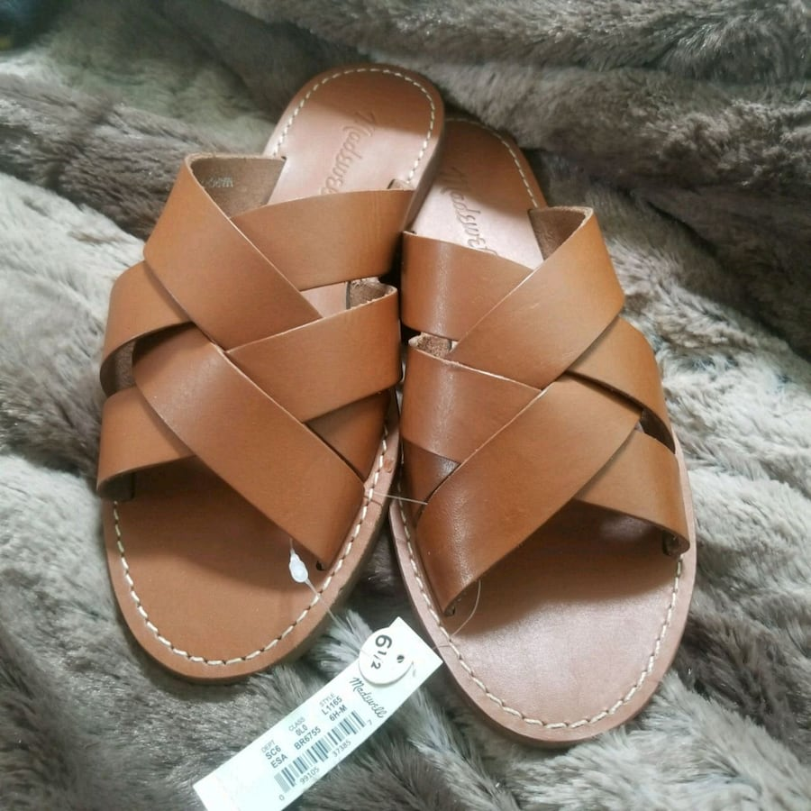 Brand new madewell leather sandals