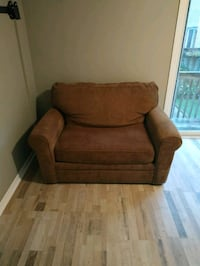 Brown single bed pull out couch