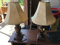 brown and white table lamp Haysville, 67060
