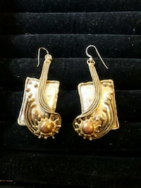 Artist made mixed metals large earrings Somerville, 02145