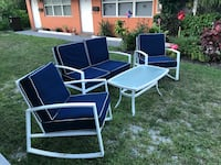 white and black patio table set West Palm Beach, 33405
