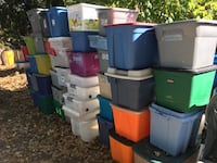 Large totes with lids only 5 to10 each FIRM  Glen Burnie, 21061