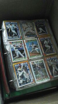 assorted baseball collectible cards