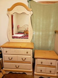 brown wooden dresser with mirror Groves, 77619