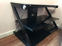 black wooden framed glass top TV stand La Vergne, 37086