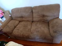 brown suede 2-seat sofa Sunbury, 17801