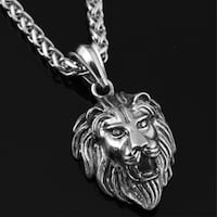 Glow in the Dark Lion Stainless Steel Pendant Necklace, this is truly a unique pendant necklace made of high quality with chain Las Vegas, 89128