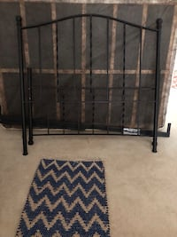 Double metal head/foot board, mattress and pad 275.00 MUST GO!!! MOVING!!! Fairfax, 22032