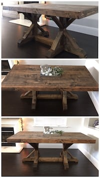 6FT x 3FT Solid Wood Rustic Farmhouse Dining Table San Jose