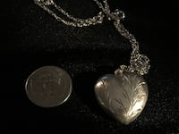 925 etched branch heart necklace  Glen Burnie, 21061