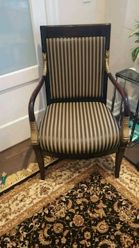 brown wooden framed brown padded armchair King City, L7B 1H8