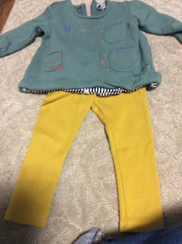 JUST REDUCED   MORE  pants outfit green top 12 m   Rockville