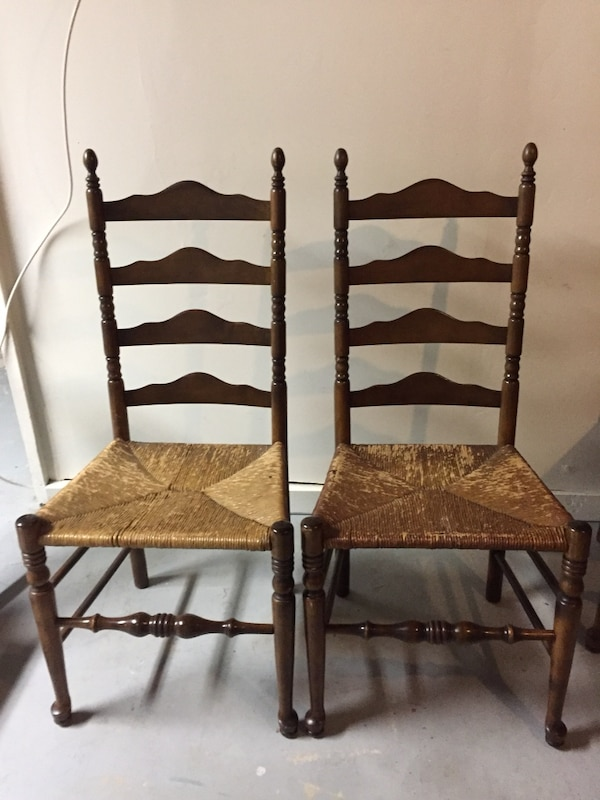 Vintage Ladderback Chairs - Used Vintage Ladderback Chairs For Sale In Green Brook - Letgo