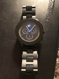 2 weeks old Movado Bold watch link below for details.  Bought for 750.00 retail selling for 400.00
