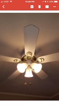 white 5-blade ceiling fan with light fixture Woodbridge, 22193