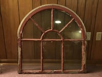 Architectural Salvage 8 Pane Arched Wooden Window Frame Annapolis
