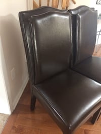 Each $150.  Three Leather Brown chairs Excellent condition Hamilton, L9G 0C6