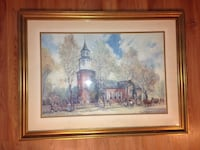 Great paint of the Williamsburg old church Centreville, 20121