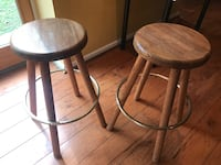 Two wooden bar stools West Chester, 19382