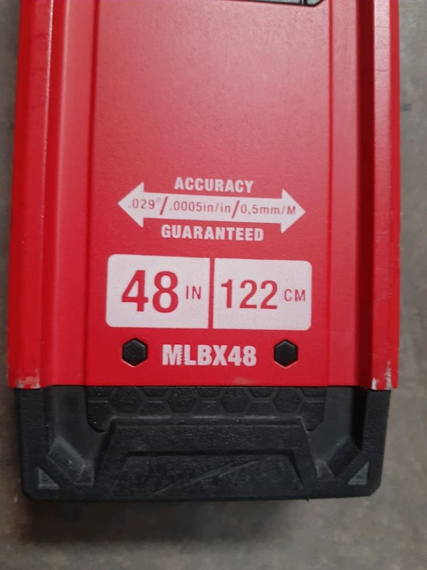 """Milwaukee red stick 48"""" level (PRICE IS FIRM) b902d642-fd8c-4f18-95ea-d35497940b76"""